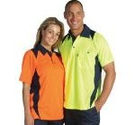HiVis Two Tone Action Polo S/S