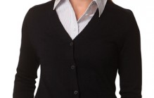M9602 Women's V-Neck Long Sleeve Cardigan