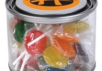 LL1064s Assorted Colour Lollipops in 500ml Drum