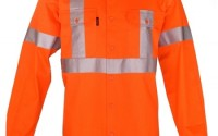 Lightweight HiVis orange work shirt